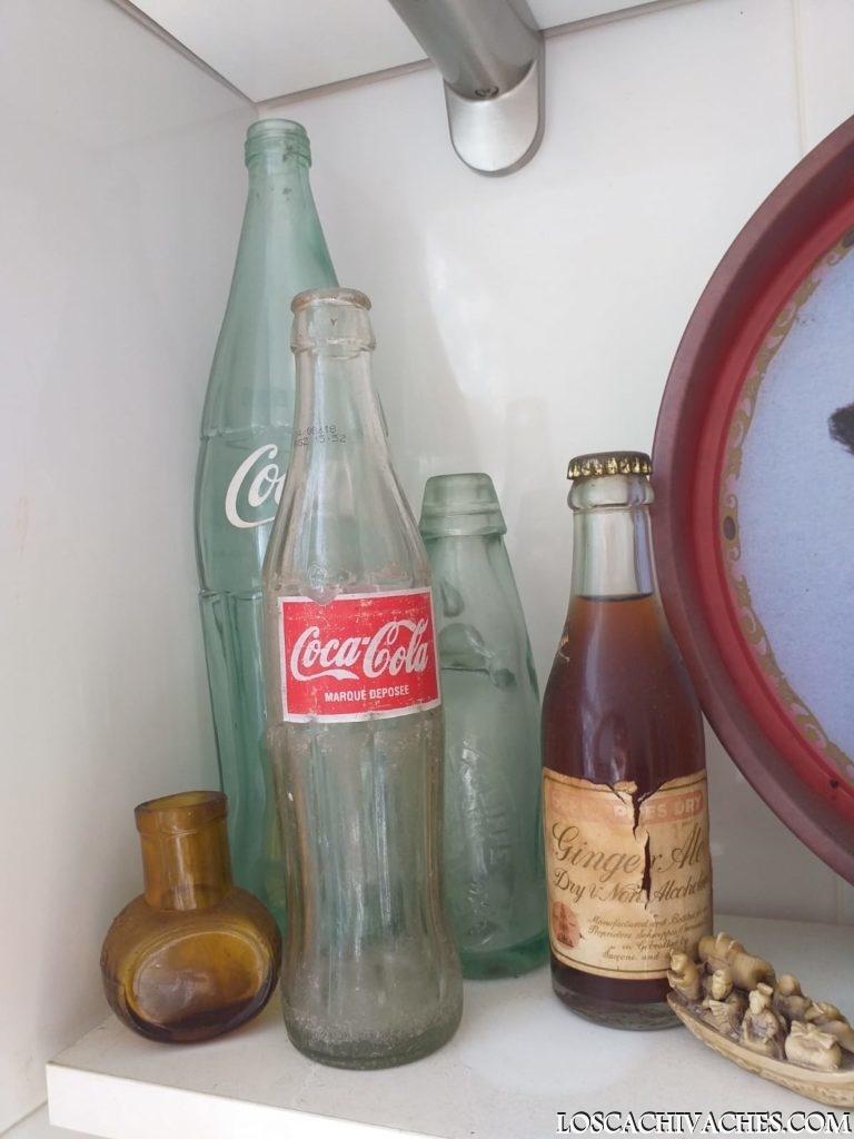 botallas años 70 coca cola, fanta naranja, cristal