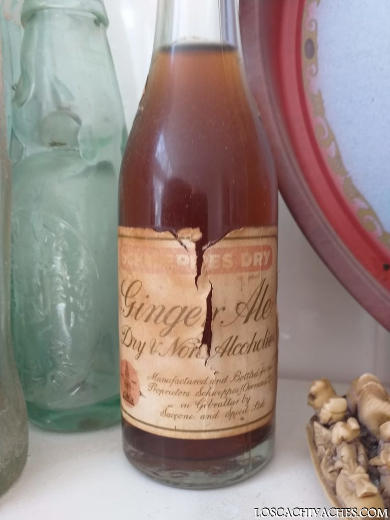 botella cristal ginger ale antigua