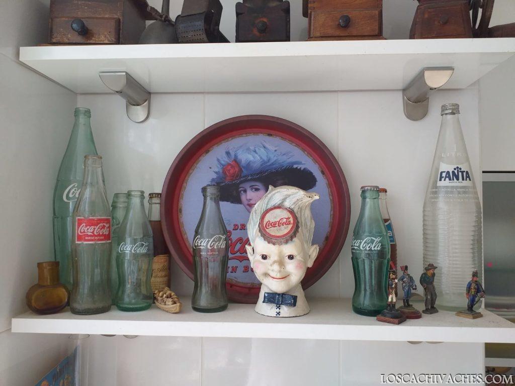 botellas antiguas de Coca Cola y Fanta, Ginger Ale