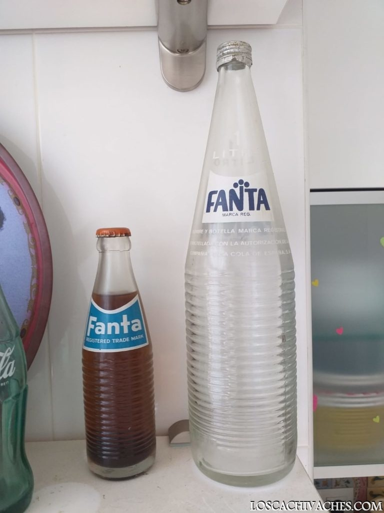 fanta naranja, botellas cristal años 80