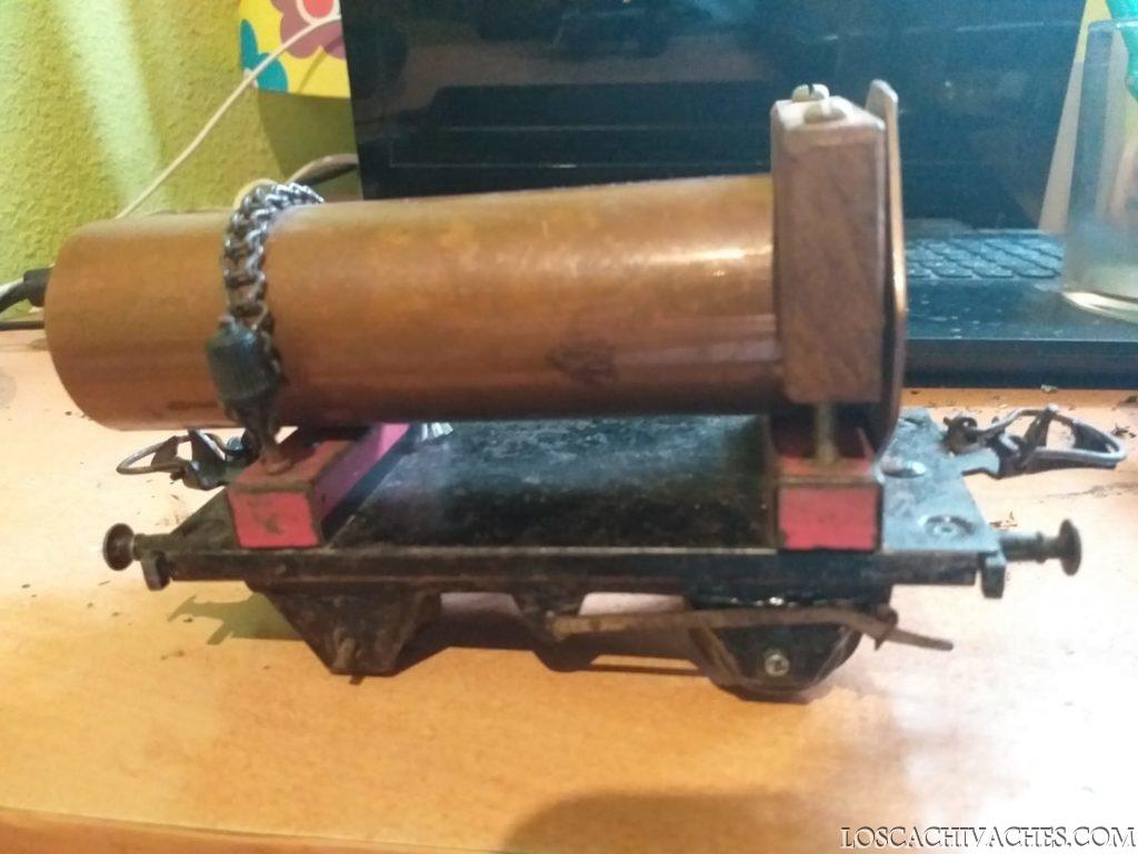 tren de mercancias antiguo, juguetes de lata 2