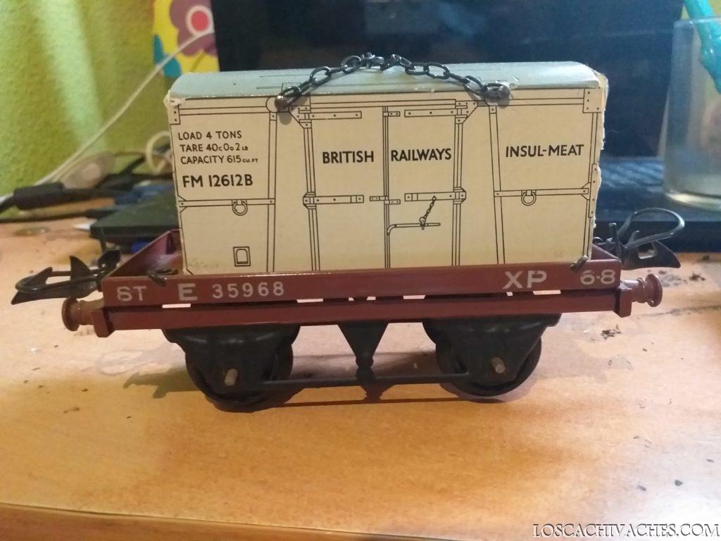 tren de mercancias antiguo, juguetes de lata 3