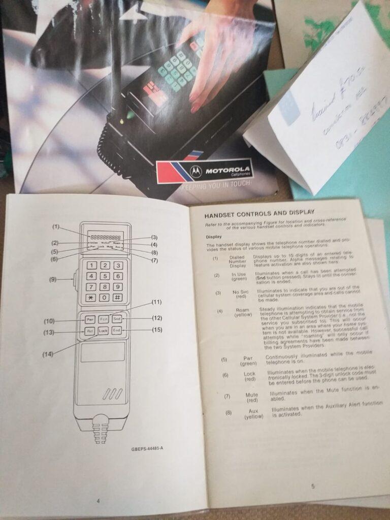 motorola instrucciones modelo 5000x