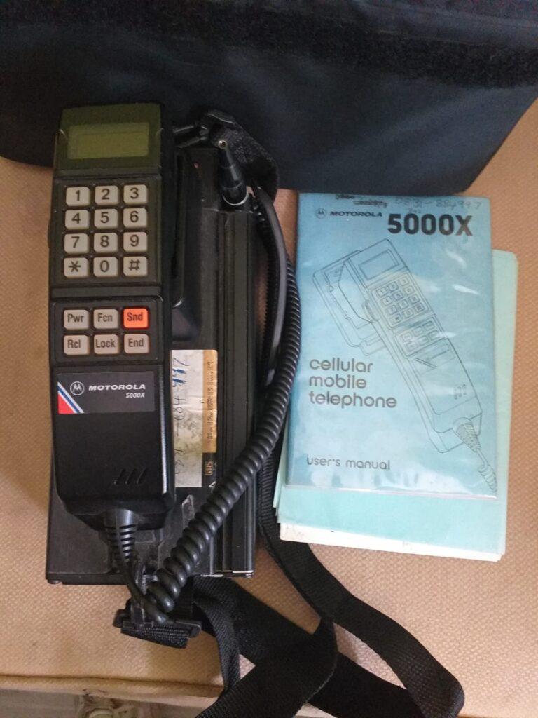 telefonos moviles portatiles años 80
