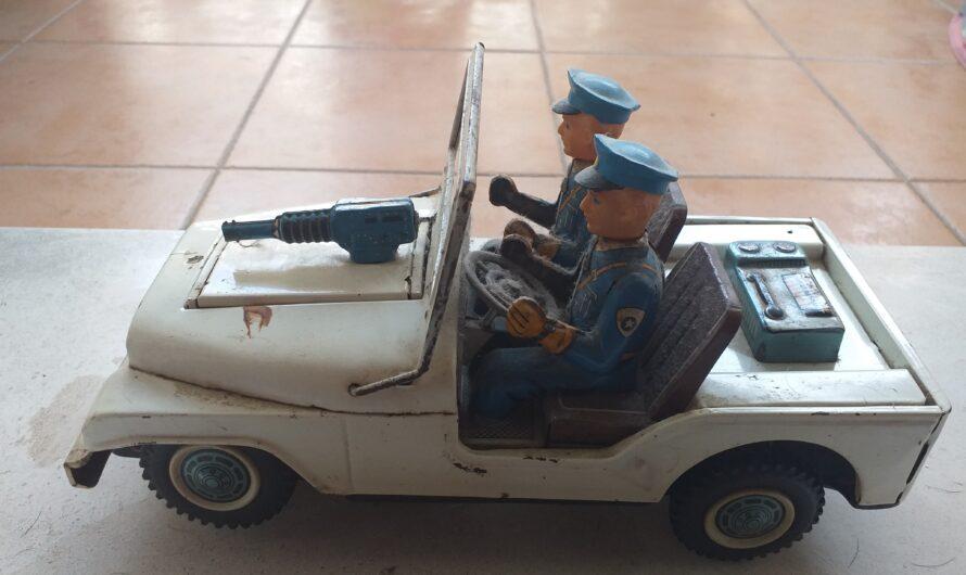 Antiguo Coche Policía de Juguete